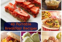 Food - Breakfast On The Go / Quick and easy breakfast ideas for the SLP on the go