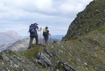 Knoydart / We regularly travel to Knoydart in May taking groups on a spectacular walking holiday for some of the best scenery Scotland has to offer. Described as Scotland's last wilderness, and overlooking the Cuillin ridge of Skye, Knoydart takes some beating. Access only by boat or on foot.