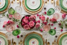 Green tablescapes