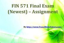 FIN 571 Final Exam Newest Assignment