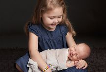 Siblings Photography Ideas / It's magical to create memorable images of newborn babies with their elder sibling or siblings.