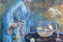 """Robert Lewis Reid /  """"Every artist dips his brush in his own soul, and paints his own nature into his pictures.""""  ¬Henry Ward Beecher  Robert Lewis Reid (July 29, 1862 – December 2, 1929) was an American Impressionist painter and muralist."""