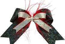 Feather Cheer Bows