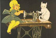 affiches anciennes machines à coudre