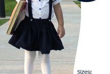 sewing schoolgirl