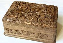 Деревянные шкатулки для бижутерии