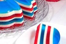 Red, White & Blue Recipes / Food and recipes made in the good old red, white and blue.