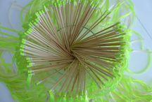 Mariage tout en Vert / De jolies photos sur le thème mariage tout vert , de jolies baguettes de rubans pour des haies d'honneur de rubans originales