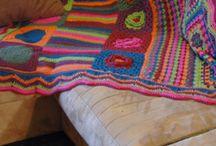 Coperte patchwork uncinetto