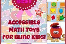 Blind baby. Math skills