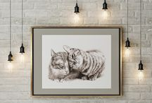 Cats printable on Etsy