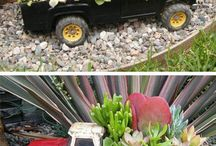 cars and truck planters
