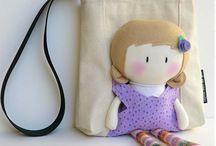 Детские сумки / Сумки для детей, выполненные в различных техниках