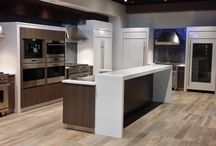 "All Inc Living Kitchen / 1800-square-foot refrigerator room and a 2000-square-foot ""living kitchen"" area. This living kitchen is a showroom for Sub-Zero and Wolf products and is connected to the main area of ALL, Inc.'s showroom."