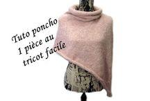 poncho à tricoter
