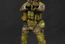 Military Men in Sixth Scale