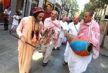 Harinam Sankirtan with Hanumat Presaka Swami and Urmila Devi Dasi at ISKCON Madrid on 05 May 2013