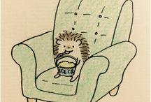 Drawing hedgehog