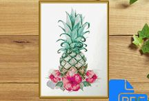 Pineapple Cross Stitch Pattern