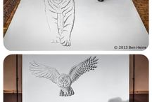 3D pencil drawing