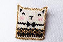 Brick stitch perles miuky