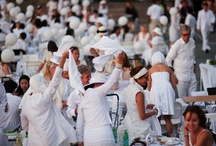 Diner en Blanc ideas / All white headpieces for white party's.