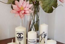 my fashion candle / candele personalizzate handmade