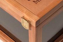 Hat boxes  / Wood boxes
