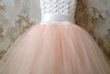 Crochet- flower girl dresses
