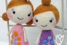 filcowane lalki