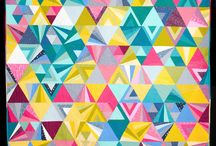 Tessellation Quilt / Beautiful Versions of the Tessellation quilt pattern