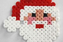 perler beads christmas patterns / Perler jul