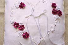 Poduszka na obrączki ślubne / Piękne, delikatne i wyjątkowe poduszki na obrączki ślubne