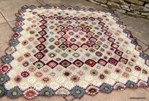 Persian carpet throw