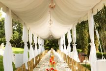 Decorations for a Tented Wedding  / by Michael's Party Rentals, Inc.