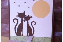Two cats birthday card