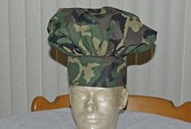 Chef Hats / Professional quality chef's hat makes you the top chef in your kitchen.  Crisp 100 % cotton with a four inch wide band adjusts to fit all sizes. Machine wash, warm; tumble dry, low. Overall: 12.75  high x 28 inches is circumference of the band. Adjustable velcro closure. Made in Missouri.  Dress up your dinner party with this official chef's hat.  Offers a classic, professional look.    You can specify name and stitching color for the personalization.  Available at www.AGiftToTreasure.com