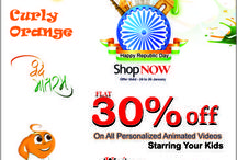 Curly Orange Offers / Curly Orange offers and discounts on personalized animated videos starring your kids in English & Hindi.