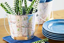Decorating with Maps  / Decorate with maps of all varieties.  From decorating your home with maps, map craft projects and map jewelry, if you can make it from a map you can find it on this board .