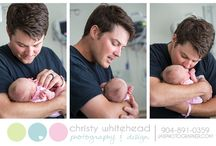 Fresh 48 - Hospital Newborn Lifestyle sessions / Christy Whitehead Photography specializes in newborn photography and can come to the hospital to take extra special photos of those first hours when all the family is doting over the baby.