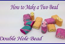 PAPER BEADS-DOUBLE HOLES