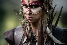 warpaint make up inspiro / tribal, postapocalyptic, dirty