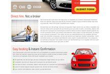 car hire landing page design
