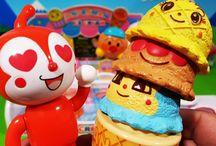 アンパンマンおもちゃアニメ❤ドキンちゃん猛暑でアイスクリーム! Anpanman toys