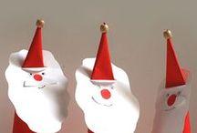 paper santa claws