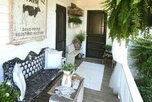 Welcoming Porches / An inviting place that you would love to kick back and stay awhile!
