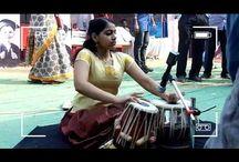 Indian Girl playing Tabla, An amazing performance