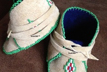 Mocassins / I make mocs and my style shoes.  Always working on new designs. / by Carol Yahola
