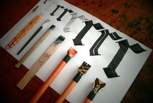 Hand Letter Calligraph brush lessons