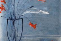 Iona Sanders paintings / paintings by Cornish artist Iona Sanders